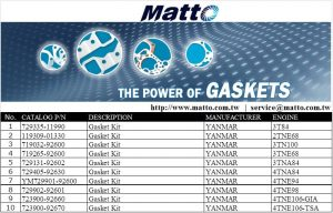 Engine Gasket Kit YANMAR